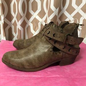 Sugar Dark Brown Ankle Boots 11M